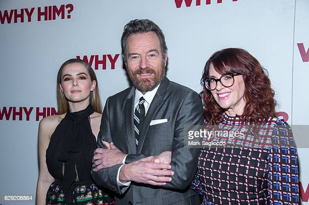 Actors Zoey Deutch Bryan Cranston and Megan Mullally attend the 20th Century Fox Special Screening Of Why Him at iPic Theater on December 11 2016 in...