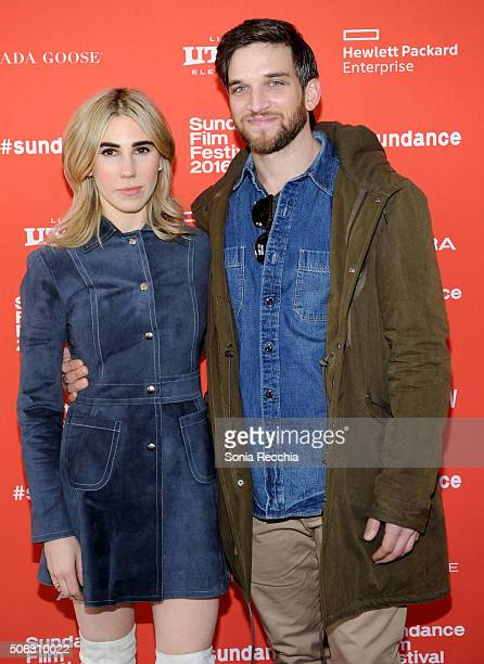 "Actors Zosia Mamet and Evan Jonigkeit attend the ""Mapplethorpe: Look At The Pictures"" Premiere during 2016 Sundance Film Festival at The Marc Theatre..."