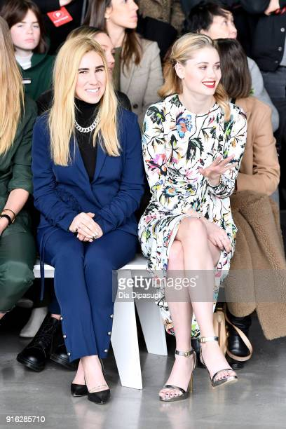 Actors Zosia Mamet and Virginia Gardner attend the Jason Wu front row during New York Fashion Week The Shows at Gallery I at Spring Studios on...