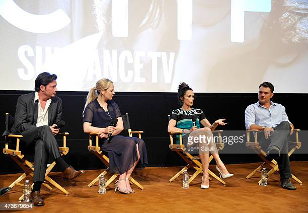 ActorsÊAden Young Adelaide Clemens Abigail Spencer and Clayne Crawford speak SundanceTV's presentation of Panel Discussions featuring creators and...