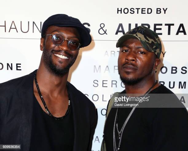 Actors/brothers Aldis Hodge and Edwin Hodge attend Art with a Cause hosted by Shaun Ross Aureta benefiting the Freedom United Foundation for the...