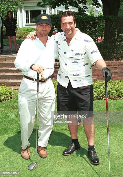 Actors/brothers Stephen and Alec Baldwin take a break during the third annual Carol M Baldwin Breast Cancer Research Fund Celebrity Golf Outing