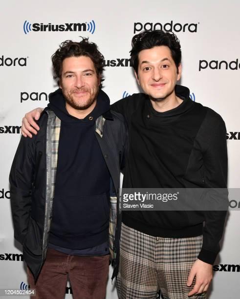 Actors/comedians Adam Pally and Ben Schwartz visit SiriusXM Studios on February 06, 2020 in New York City.