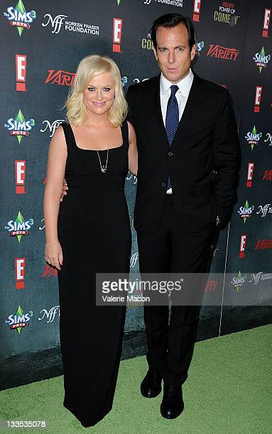 Actors/comedians Amy Poehler and Will Arnett arrive at Variety's 2nd Annual Power Of Comedy Event at Hollywood Palladium on November 19, 2011 in...