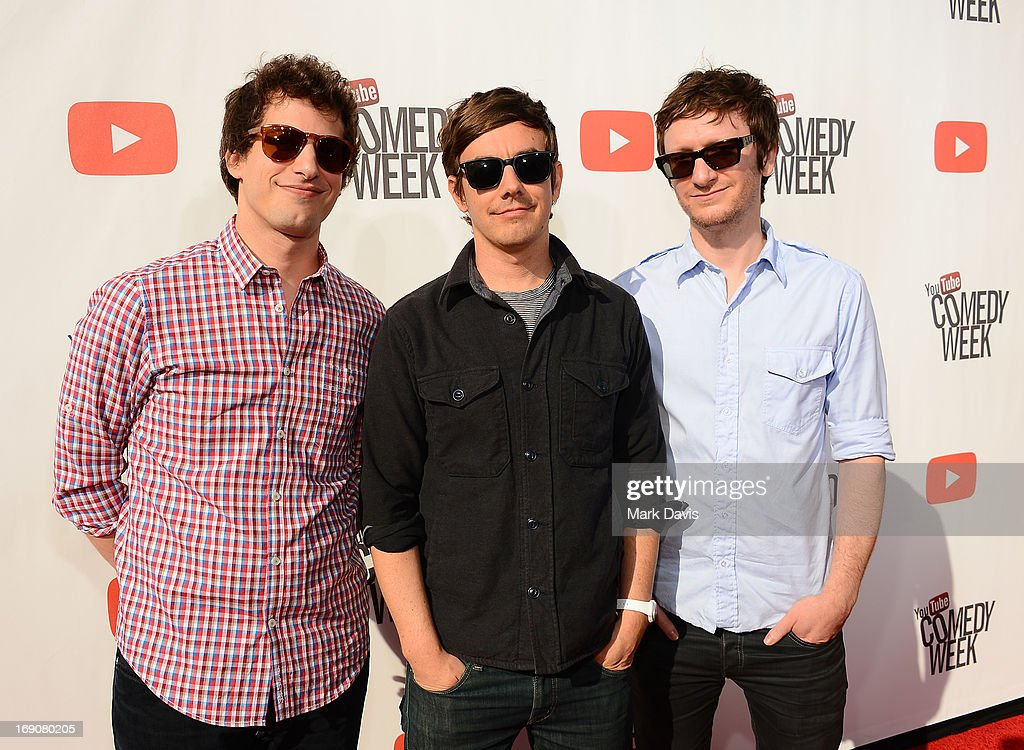 Actors/comedians Andy Samberg, Jorma Taccone and Akiva Schaffer of The Lonely Island attend 'The Big Live Comedy Show' presented by YouTube Comedy Week held at Culver Studios on May 19, 2013 in Culver City, California.