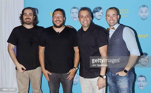 Actors/comedians Brian 'Q' Quinn Salvatore 'Sal' Vulcano Joseph 'Joe' Gatto James 'Murr' Murray attend the The Impractical Jokers Live Punishment...