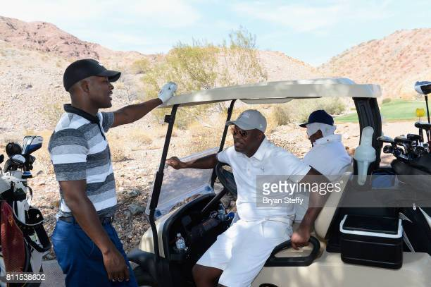 Actors/comedians Flex Alexander and Chris Tucker attend the Coach Woodson Las Vegas Invitational at Cascata Golf Club on July 9 2017 in Boulder City...