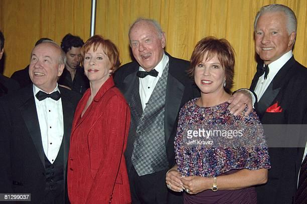 "Actors-comedians Tim Conway, Carol Burnett, Harvey Korman, Vicki Lawrence and Lyle Waggoner of ""The Carol Burnett Show"""