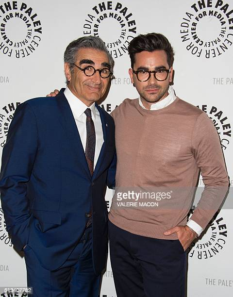 Actors/Creators/Executive Producers Eugene Levy and Daniel Levy attend the PALEYLIVE LA An Evening With Schitts Creek at the Paley Center for Media...