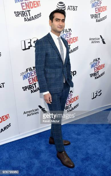 Actor/screenwriter Kumail Nanjiani attends the 2018 Film Independent Spirit Awards on March 3 2018 in Santa Monica California