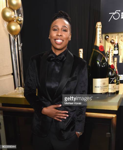 Actor/screenwriter Lena Waithe celebrates The 75th Annual Golden Globe Awards with Moet Chandon at The Beverly Hilton Hotel on January 7 2018 in...