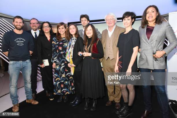 Actor/screenwriter/director/ Alexis Michalik Stanislas Rigot from Librairie Lamartine Lawyer Sophie Obadia Livre de Poche general director Veronique...