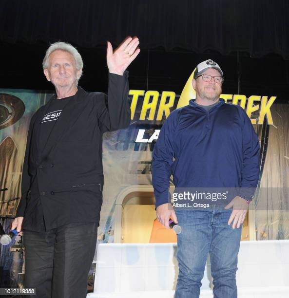 Actors/directors Rene Auberjonois and Robert Duncan McNeill attend Day 4 of Creation Entertainment's 2018 Star Trek Convention Las Vegas at the Rio...