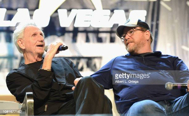 Actors/directors Rene Auberjonois and Robert Duncan McNeill speak at the 'Director's Cut' panel during the 17th annual official Star Trek convention...