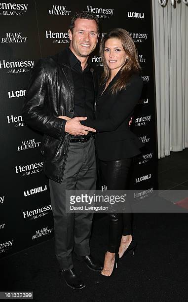 Actors/husband and wife Jason O'Mara and Paige Turco attend the Hennessy Toasts Achievements In Music event with GRAMMY Host LL Cool J and Mark...