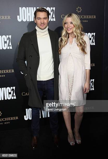 Actors/husband wife Chad Michael Murray and Sarah Roemer attend the premiere of Summit Entertainment's 'John Wick Chapter Two' at ArcLight Hollywood...