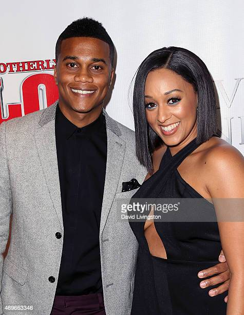 Actors/husband wife Cory Hardrict and Tia MowryHardrict attend the premiere of 'Brotherly Love' at SilverScreen Theater at the Pacific Design Center...