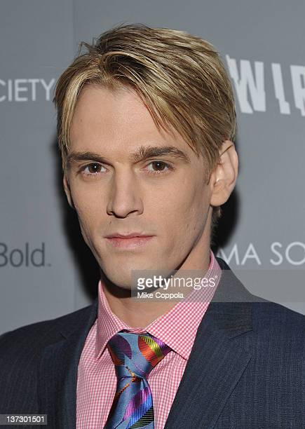 Actor/singer Aaron Carter attends the Cinema Society Blackberry Bold screening of Haywire at Landmark Sunshine Cinema on January 18 2012 in New York...