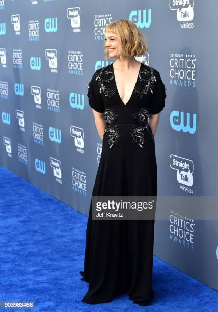 Actor/singer Alison Sudol attends The 23rd Annual Critics' Choice Awards at Barker Hangar on January 11 2018 in Santa Monica California