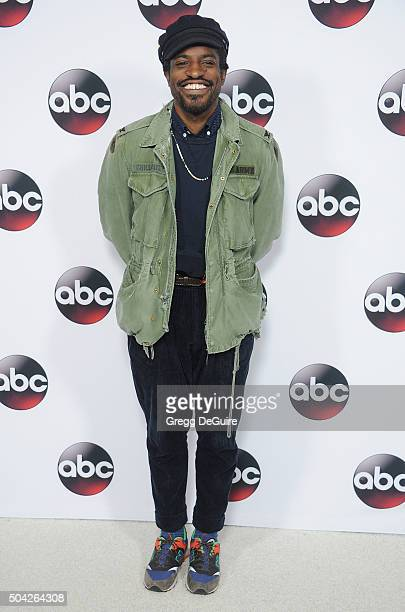 Actor/singer Andre 3000 arrives at the 2016 Winter TCA Tour Disney/ABC at Langham Hotel on January 9 2016 in Pasadena California