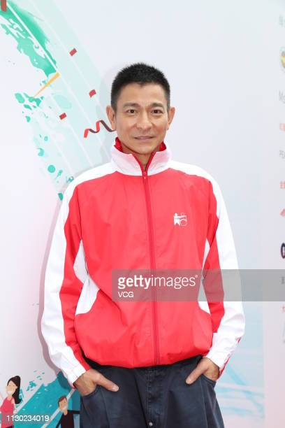 Actor/singer Andy Lau Takwah attends PHAB Walk for Integration x Sports Day by the Hong Kong PHAB Association on February 17 2019 in Hong Kong China