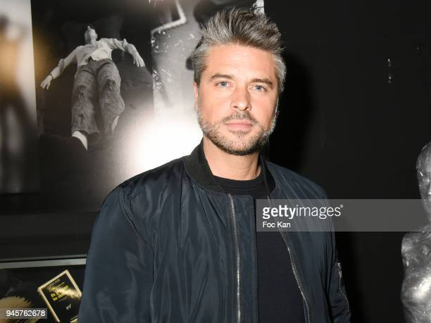 Actorsinger Anthony Dupray attends the Maurice Renoma Serie Noire Exhibition At Renoma Store Rue De La Pompe on April 12 2018 in Paris France