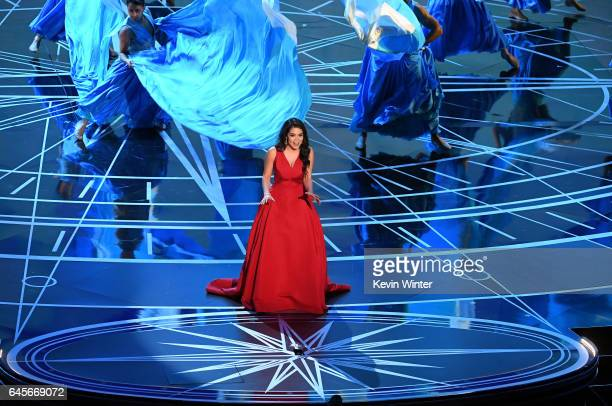Actor/singer Auli'i Cravalho performs onstage during the 89th Annual Academy Awards at Hollywood Highland Center on February 26 2017 in Hollywood...