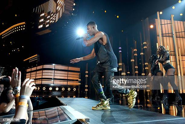 Actor/singer Bryshere Y Gray performs onstage during the 2015 Billboard Music Awards at MGM Grand Garden Arena on May 17 2015 in Las Vegas Nevada