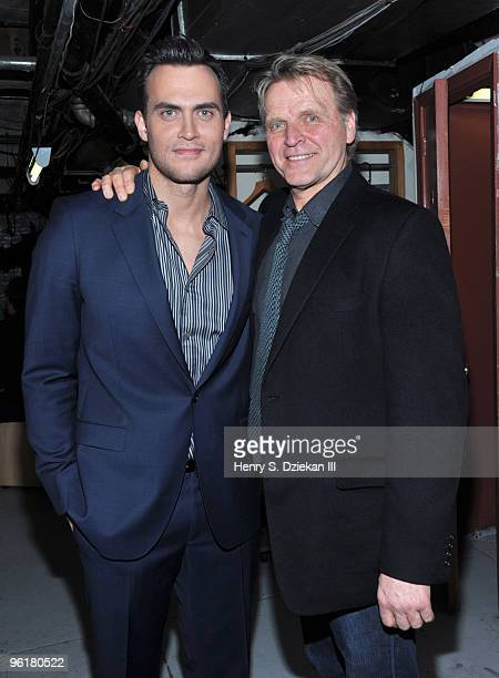 Actor/Singer Cheyenne Jackson and Actor David Rasche attend the 8th Annual Nightlife Awards on January 25 2010 in New York City