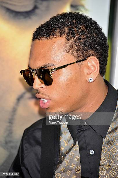 Actor/singer Chris Brown arrives at Screen Gems' Takers World Premiere held at the Arclight Cinema Cinerama Dome in Hollywood