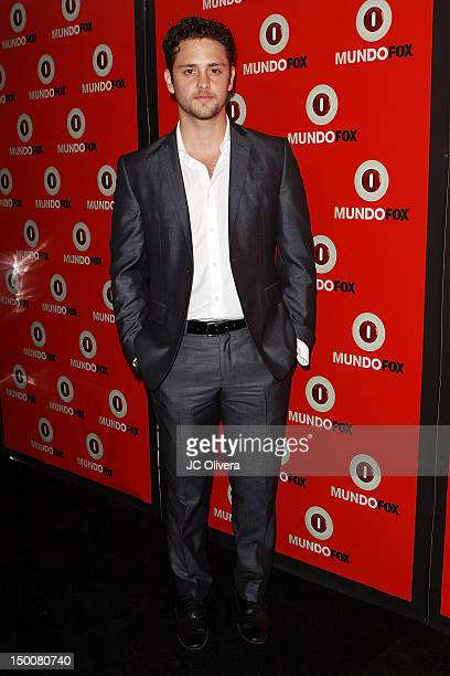 Actor/singer Christopher Von Uckermann arrives at MundoFox launch party at Club Nokia LA Live on August 9 2012 in Los Angeles California