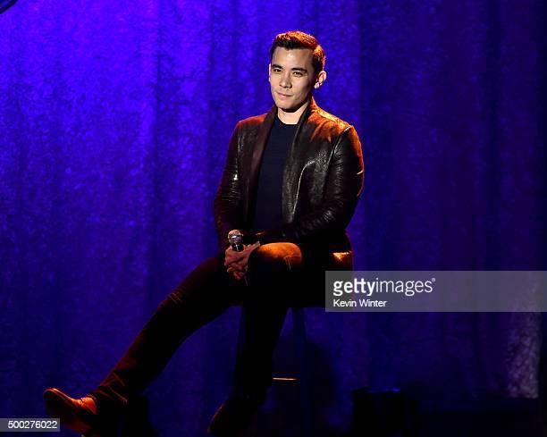 Actor/singer Conrad Ricamora performs onstage during TrevorLIVE LA 2015 at Hollywood Palladium on December 6 2015 in Los Angeles California