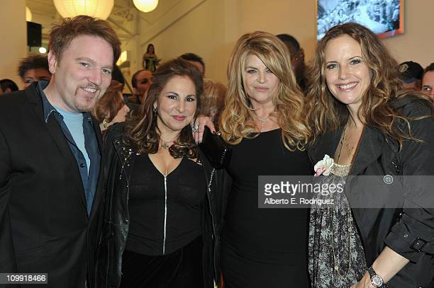 Actor/singer Dan Finnerty actress Kathy Najimy actress Kirstie Alley and actress Kelly Preston attend the opening of Kirstie Alley's Organic Liaison...