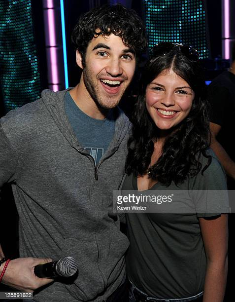 Actor/singer Darren Criss and singer Nikki Yanofsky pose during 2011 MusiCares Person Of The Year Tribute To Barbra Streisand rehearsals at Los...