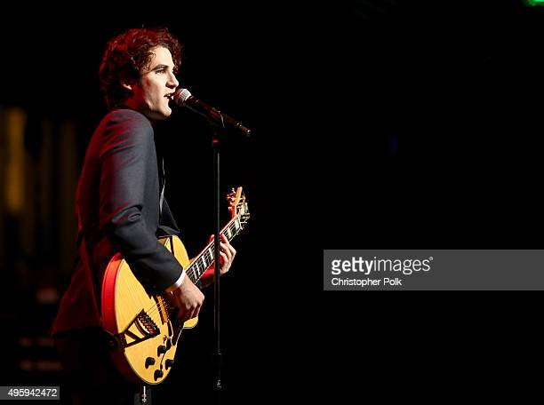 Actor/singer Darren Criss performs onstage during the Screen Actors Guild Foundation 30th Anniversary Celebration at Wallis Annenberg Center for the...