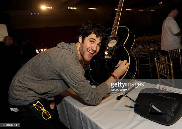 Actor/singer Darren Criss poses during 2011 MusiCares Person Of The Year Tribute To Barbra Streisand rehearsals at Los Angeles Convention Center on...