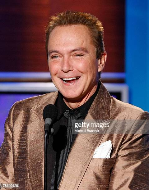 Actor/singer David Cassidy speaks onstage during the 9th annual Family Television Awards held at the Beverly Hilton Hotel on November 28 2007 in Los...