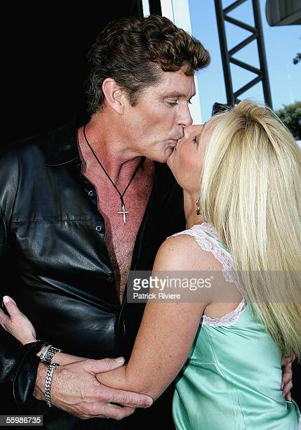 Actor/singer David Hasselhoff and his wife Pamela Bach attend Foxtel's 10th Birthday celebrations at Randwick Racecourse on October 23 2005 in Sydney...