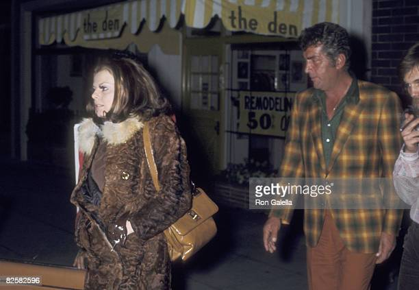 Actor/Singer Dean Martin and Catherine Hawn on April 7 1970 leaving the Candy Store in Beverly Hills California
