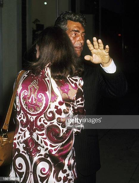 Actor/Singer Dean Martin and Catherine Hawn on March 26 1970 leaving the Candy Store in Beverly Hills California
