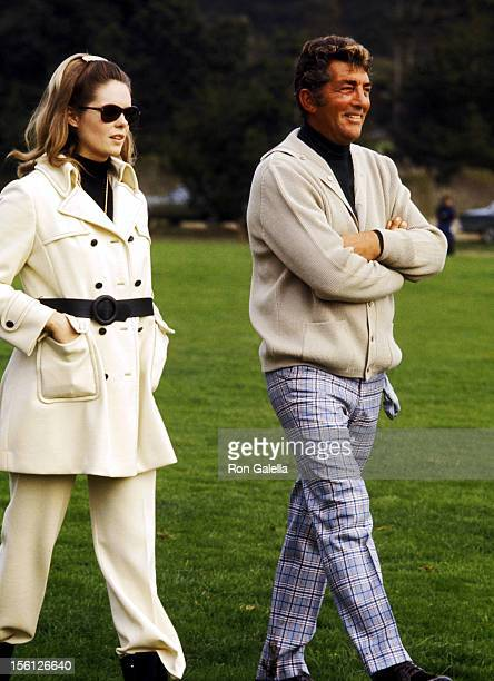 Actor/Singer Dean Martin and girlfriend Gail Renshaw attend the 29th Annual Bing Crosby National ProAmateur Golf Championship on January 22 1970 at...