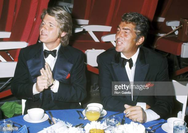 Actor/Singer Dean Martin and son Dean Paul Martin attend the Airport Hollywood Premiere Party on March 19 1970 at a Hollywood Sound Stage in...