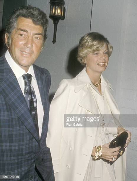 Actor/Singer Dean Martin and wife Catherine Hawn attend the 46th Annual Academy Awards PreParty on April 1 1974 at Chasen's Restaurant in Beverly...