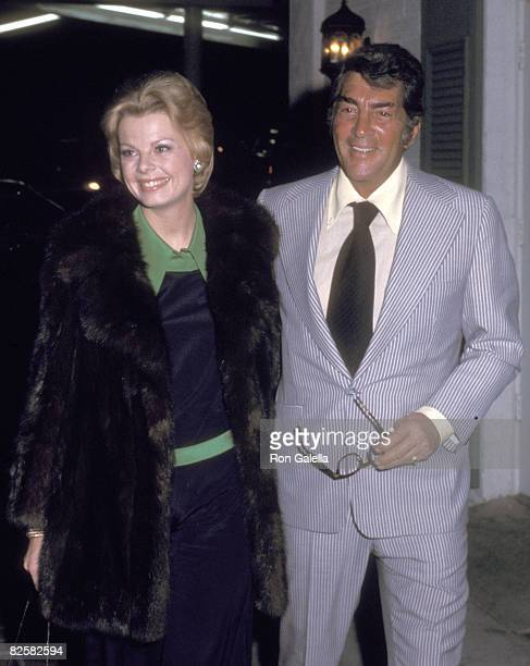 Actor/Singer Dean Martin and wife Catherine Hawn on April 2 1973 dining at Chasen's Restaurant in Beverly Hills California