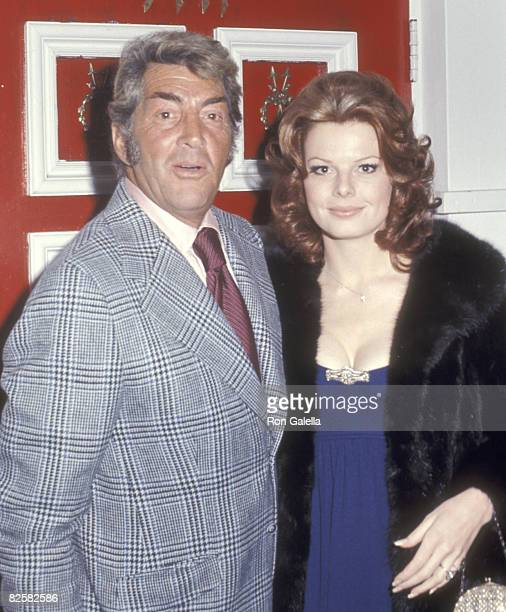 Actor/Singer Dean Martin and wife Catherine Hawn on January 28 1973 dining at Rangoon Racquet Club in Beverly Hills California
