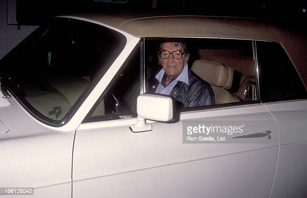 Actor/Singer Dean Martin on August 14 1990 dining at La Famiglia Restaurant in Beverly Hills California
