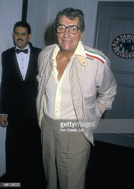 Actor/Singer Dean Martin on August 25 1988 dining at La Famiglia Restaurant in Beverly Hills California