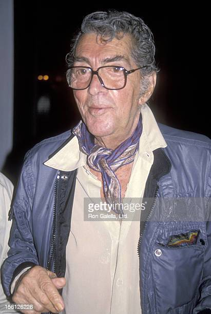 Actor/Singer Dean Martin on August 31 1990 dining at La Famiglia Restaurant in Beverly Hills California