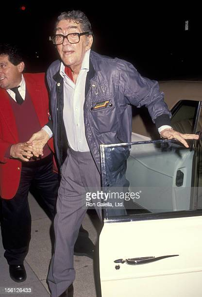 Actor/Singer Dean Martin on February 13 1992 dining at La Famiglia Restaurant in Beverly Hills California