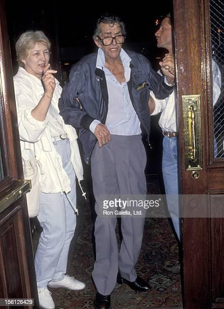 Actor/Singer Dean Martin on May 22 1994 dining at the Hamburger Hamlet in Beverly Hills California